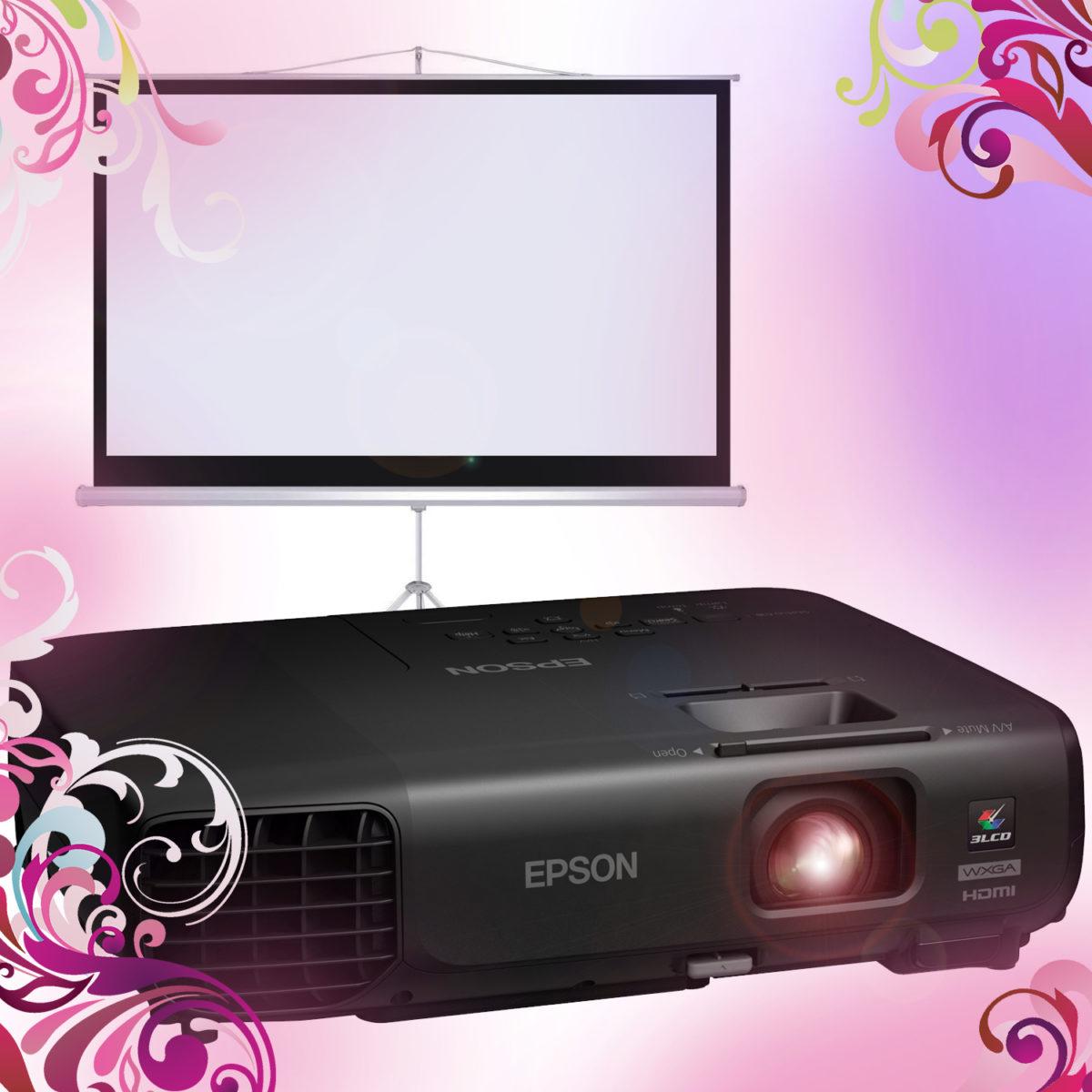 Видеопроектор с экраном